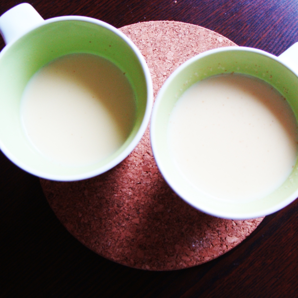 Homemade Indian spiced milk tea