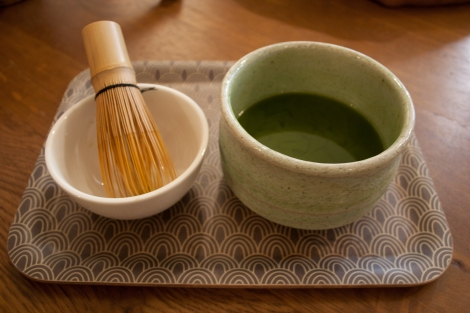 Ready to taste matcha at Maison de Thé in Paris