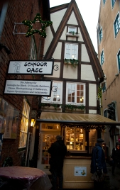 The tiny medieval tea house in Bremen's Schnoor district