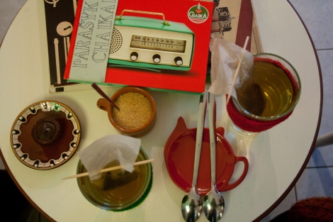 Mint and cinnamon tea in Chaika