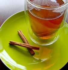 Cinnamon sticks in black Assam tea