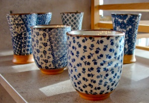 Japanese tea ceramics in Unami