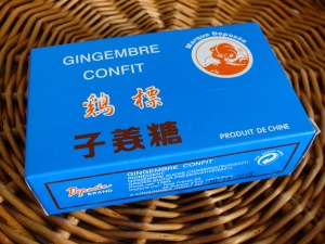 Ginger confectionary bought in Unami