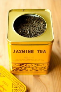 A box of green jasmine tea