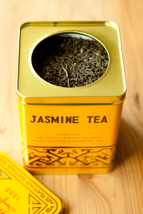 A box of green jasmine tea