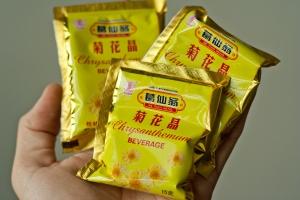 Instant chrysanthemum tea