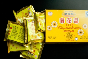 A box of instant chrysanthemum tea
