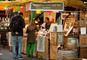 Tea2you Darjeeling tea stall in Borough Market in London