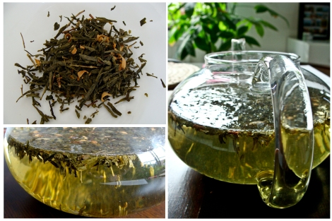 Aromatised green tea made cold