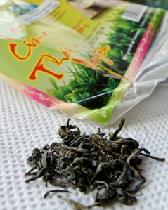 Green tea with lotus from Vietnam