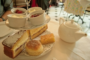Afternoon tea in the Fan museum in London