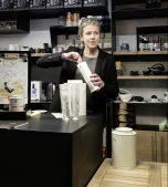 Martine's tea shop Le Fossé Fleuri in Namur, Belgium
