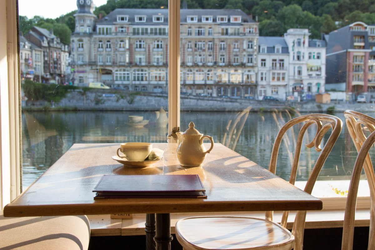 Cuppa with a view in Dinant