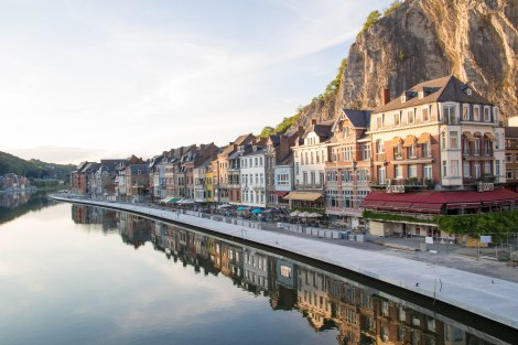 Charming city of Dinant in Belgium