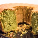 Baking with matcha tea
